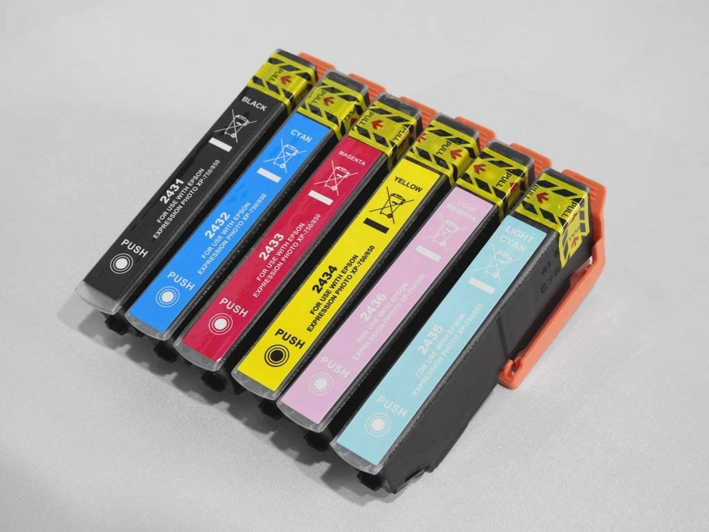 Pack de 6 Cartuchos de Tinta compatibles Epson T24 Serie Elefante – para impresoras de inyección de Tinta Epson: Amazon.es: Oficina y papelería