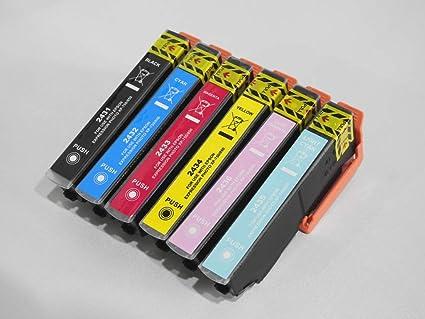 Pack de 6 Cartuchos de Tinta compatibles Epson T24 Serie ...