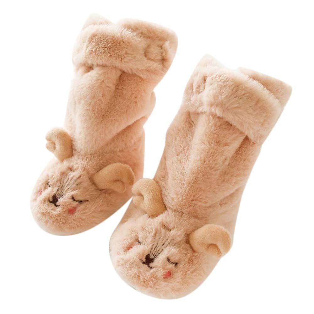 Baulody Toddler Baby Girls Boys Cartoon Animal Thick Warm Anti-Slip Socks Boots