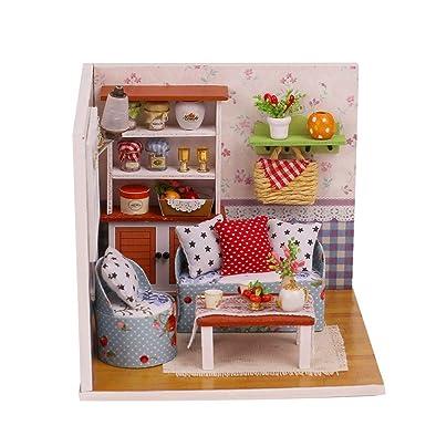NIUQY Venta de liquidación Moda Casa de muñecas de madera de ...