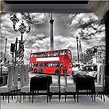 Wapel Papel De Parede Continental Red London Bus Large Custom Wallpaper Dining Sitting Room Tv Photos Hd Wallpaper Murals Silk Cloth 200x140CM