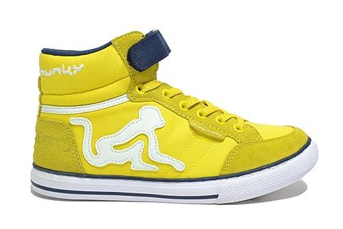 Drunkn Munky sneakers colorata con lacci elastici e velcro YELLOW NAVY e10f22c6164