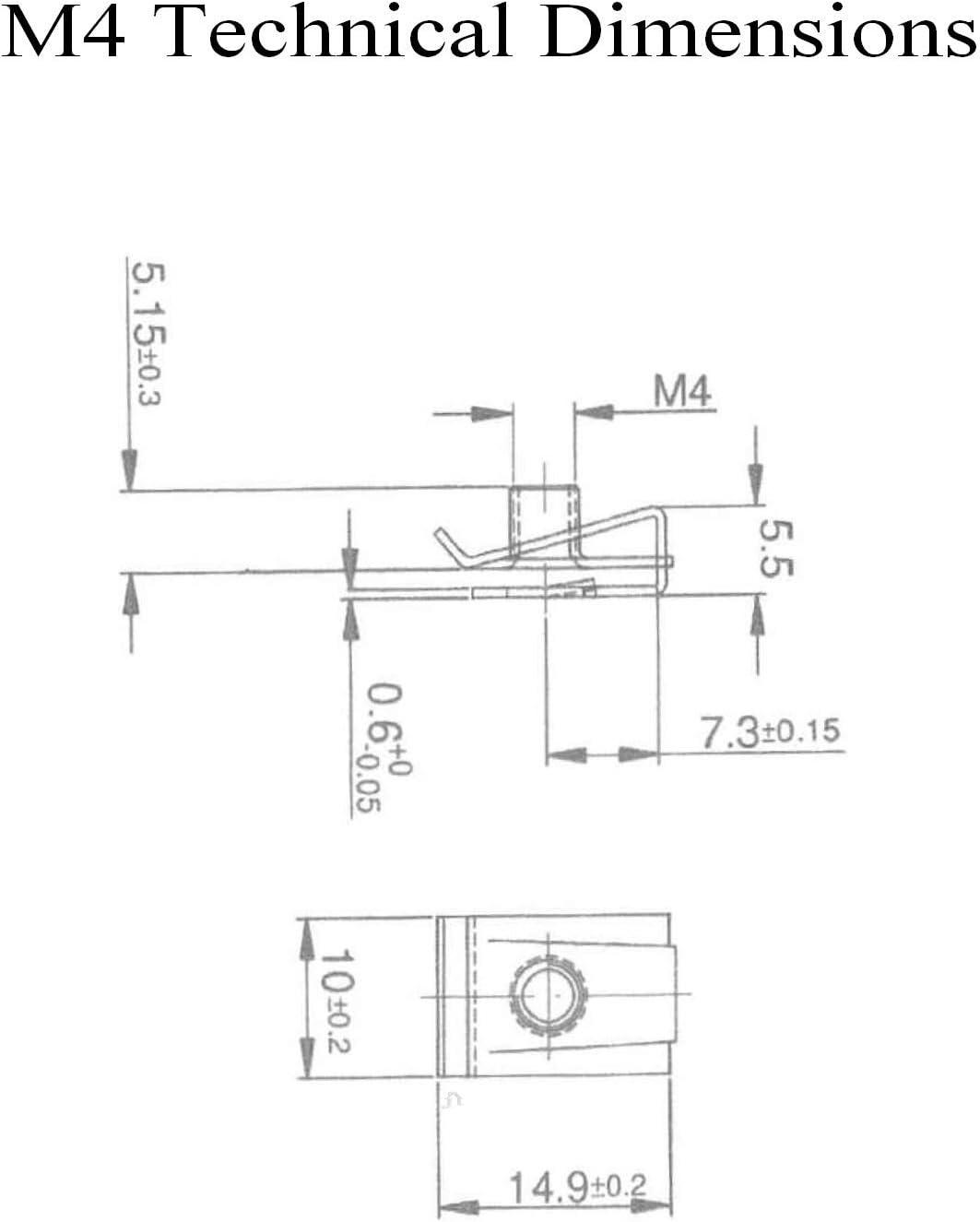 No 4 10 x Speed Fastener U Nuts Interior Trim Panel Self Tapping Screw Spire Clips