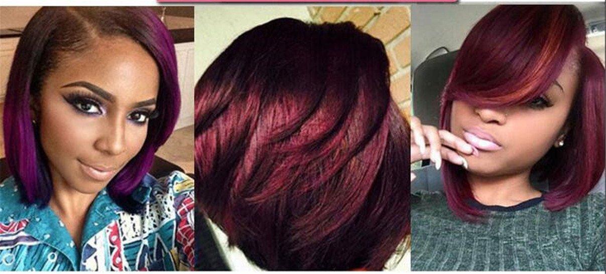 ATOZWIG- Peluca sintética con un peinado de pelo corta y un diseño para mujer afroamericana: Amazon.es: Belleza