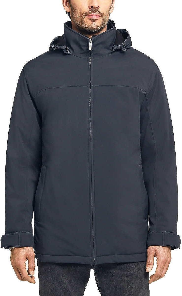 Weatherproof Ultra Tech Mens Jacket Double Zip Hooded Water Repellant Coat