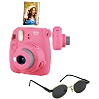 Câmera instantânea Fujifilm Instax Mini9 Rosa Flamingo + Óculos de Sol