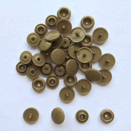 10 Ensembles Boutons Pression Couleur de Bronze