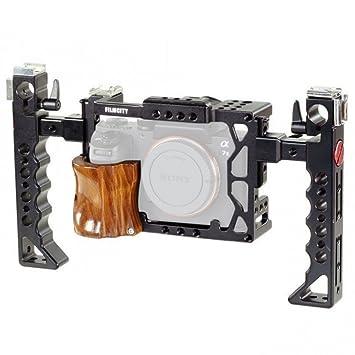 Filmcity cámara de vídeo ligera jaula con asas laterales para DSLM ...