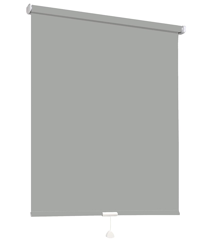 Springrollo Mittelzugrollo Schnapprollo Fenster Rollo Vorhang 16 Farben Breite 62-242 cm Höhe 160 und 230 cm blickdicht lichtdurchlässig Sonnenschutz Sichtschutz Blendschutz (232 x 160 cm Grau)