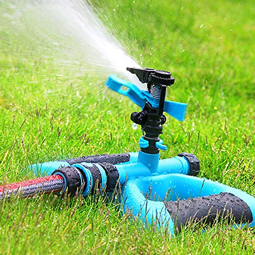 Macoku Water Sprinkler, Sprinkler Irrigation Water System Design Impulse Long Range for Garden and Lawn