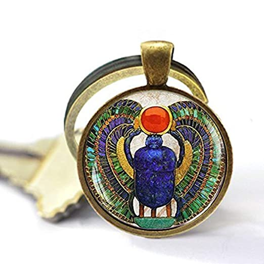 Llavero egipcio de Scarab, antigua joyería egipcia, llavero ...