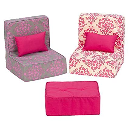 Amazon.com: Our Generation Dollhouse Furniture - Living Room Set ...