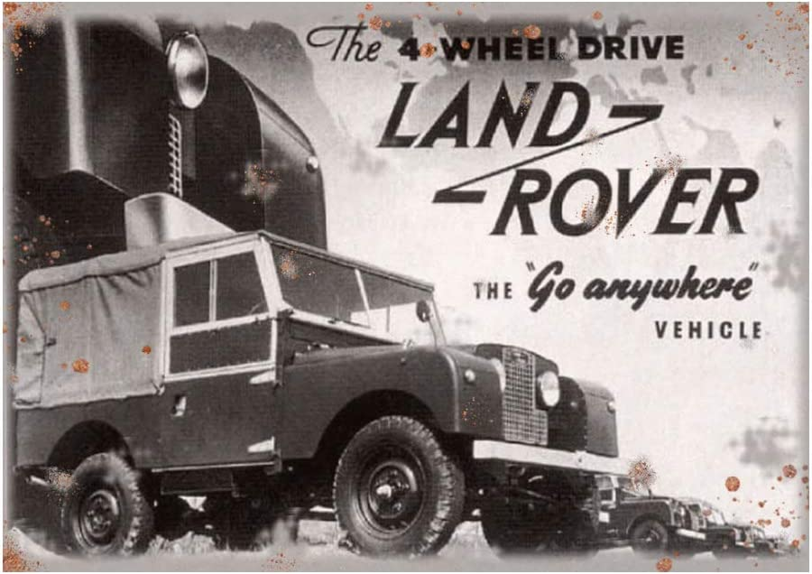 200x285mm Etch-It-England Vintage Land Rover Defender Classic Advert Garage Metal Wall Garage Sign Garden Shed Plaque Tin Approx A4