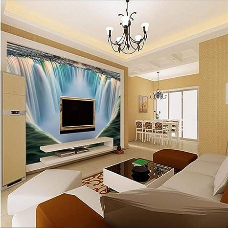 Custom Wallpaper 3D Horizontal Landscape Waterfall Tv Background ...