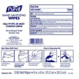 PURELL Hand Sanitizing Wipes, Alcohol Free Formula, 1200 Count Wipes Refill for PURELL High Capacity Wall and Floor Stand Wipes Dispenser (Pack of 2) - 9118-02
