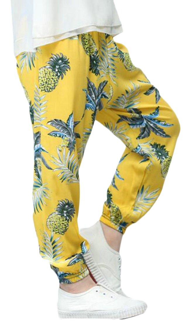 Wofupowga Girls Comfy Print Striped Ankle Length Loose Soft Harem Pants 8 3T
