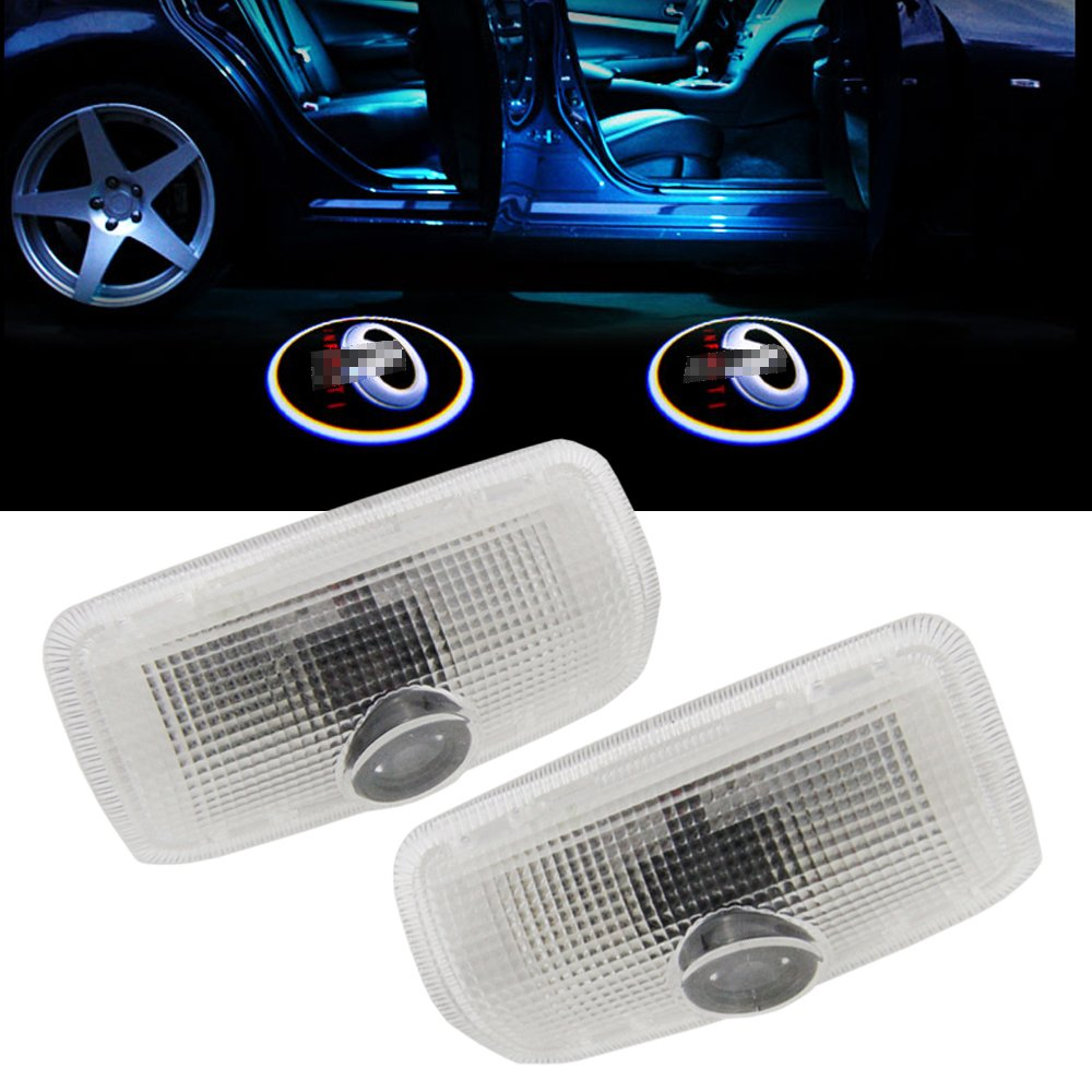 NSLUMO For Infiniti Laser LED Door Step Courtesy Welcome Logo Projector Ghost Shadow Lights For Infiniti EX M G25 G37 FX Q QX CAN-bus No Error Shadow Light Side Marker