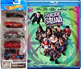 Justice League Hot Wheels DC Suicide Squad (Extended Cut DVD + Blu-ray + Digital + Ultraviolet) Wonder Woman / Batman / Superman / The Flash / Cyborg / Aquaman Car Movie Pack