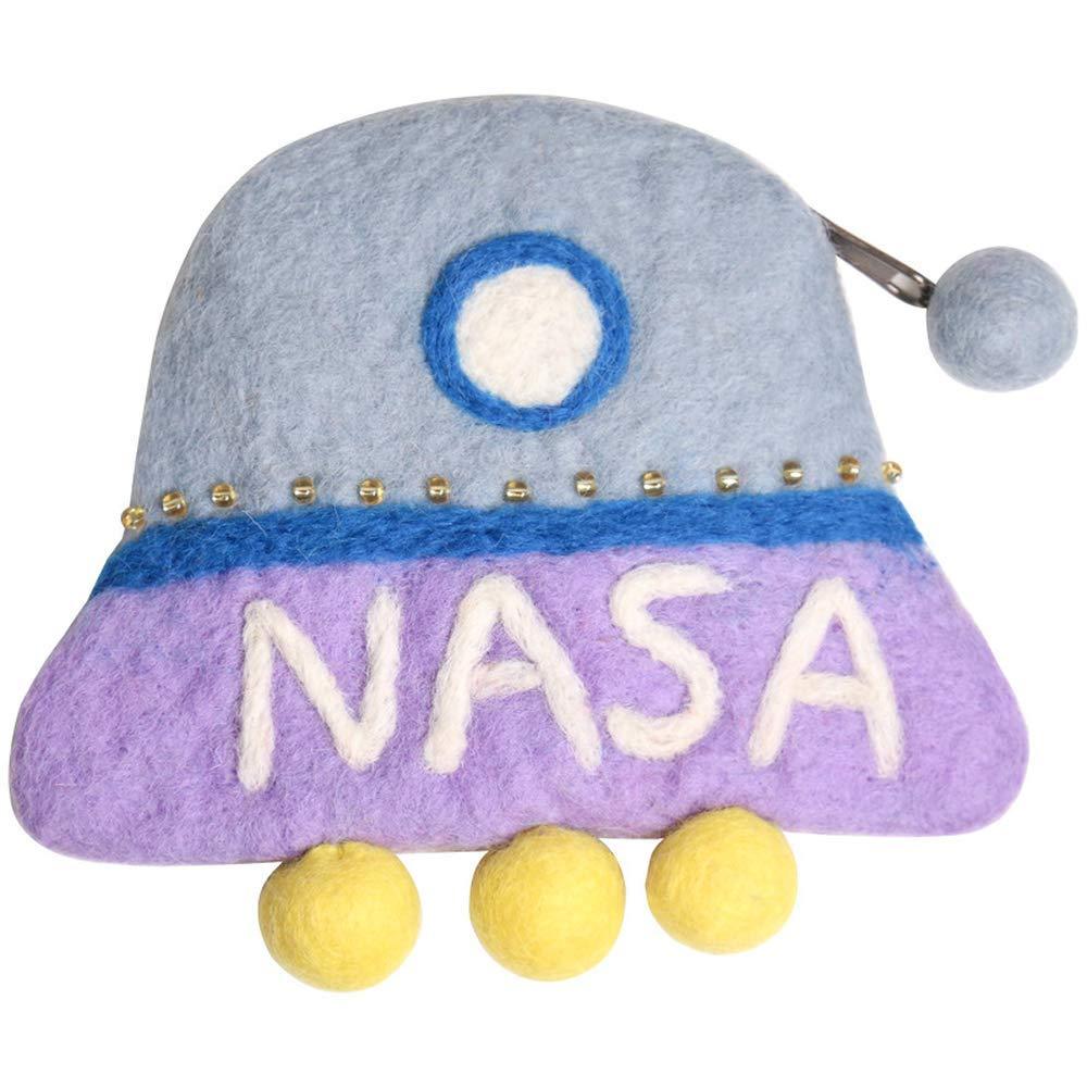 Monedero Vektenxi hecho a mano de fieltro de lana UFO de ...
