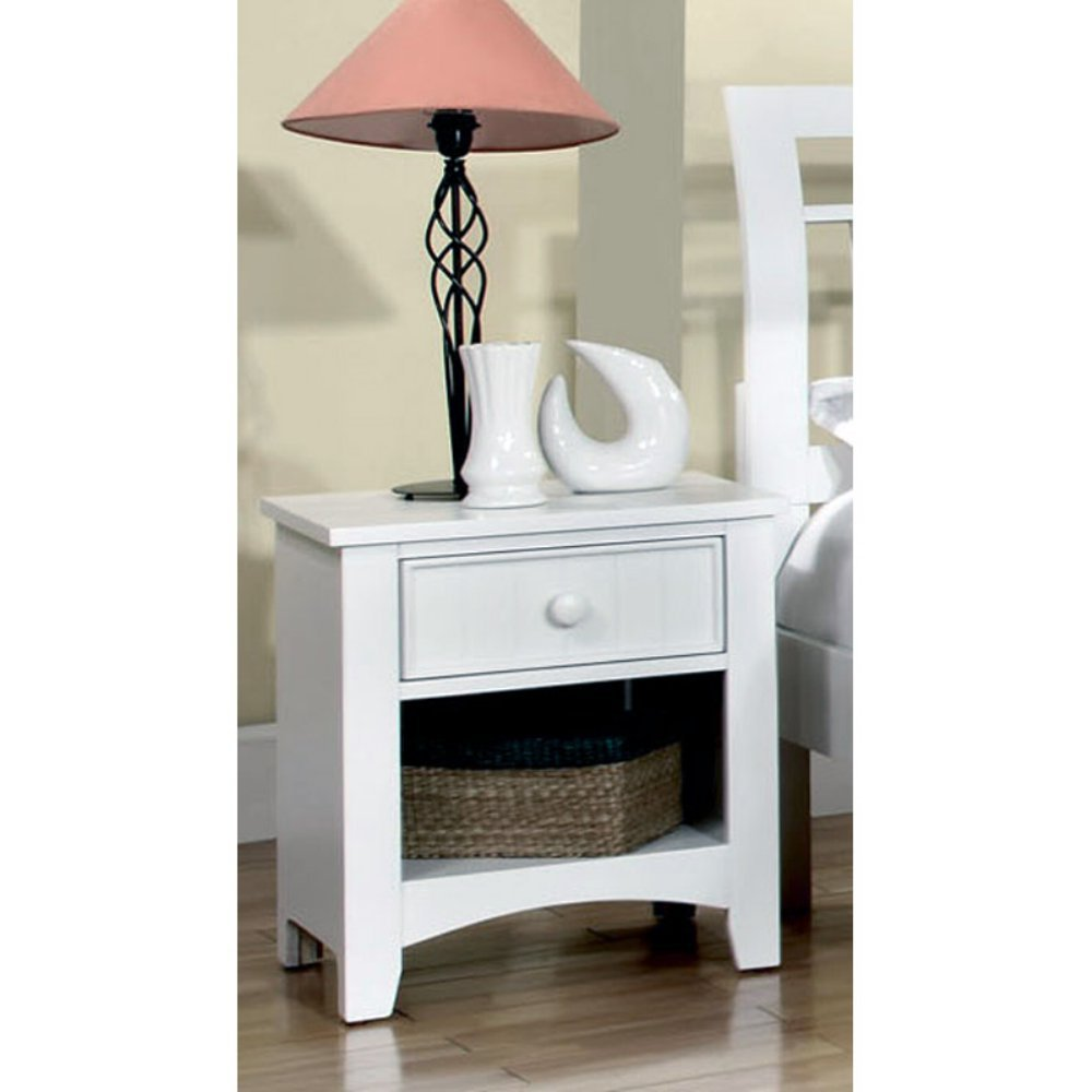 Furniture of America Cottage Style 1 Drawer Nightstand