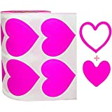 3-Way Pink Love Heart Stickers,Removable Perforated Self Adhesive Hearts Shape Labels - Art & Craft Projects - Sticker-Bombin