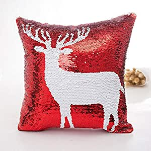 Amazon.com: Wall of Dragon Merry Christmas Pattern Red and ...