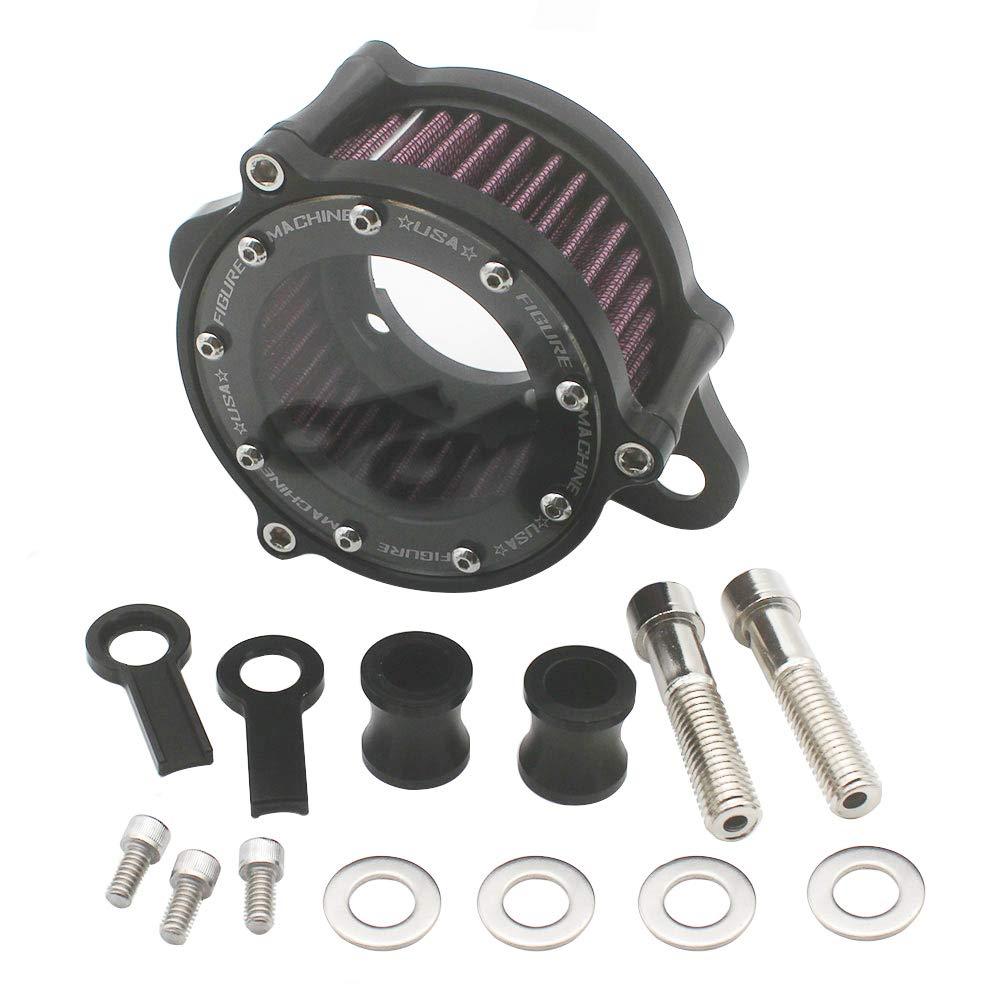 KIPA Air Cleaner Intake Filter System Kit For Harley Davidson Sportster XL883 XL883N XL883R XL883P XL1200 XL1200L XL1200X Iron 883 Forty Eight XL1200X 2004-2016 Billet Aluminum CNC Machined Washable by KIPA (Image #1)
