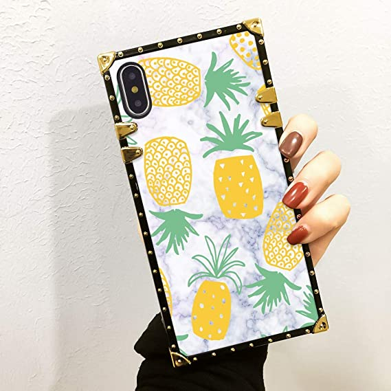 Amazon Com Bonoma Pineapple Texture Marble Phone Case For