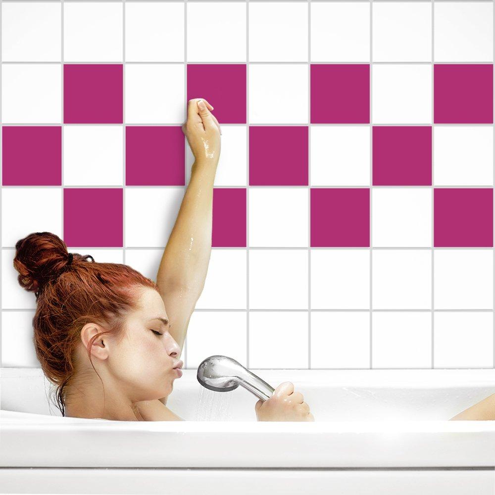 PrintYourHome Fliesenaufkleber für für für Küche und Bad   einfarbig weiß matt   Fliesenfolie für 20x20cm Fliesen   152 Stück   Klebefliesen günstig in 1A Qualität B07175Q3L8 Fliesenaufkleber 41ad84