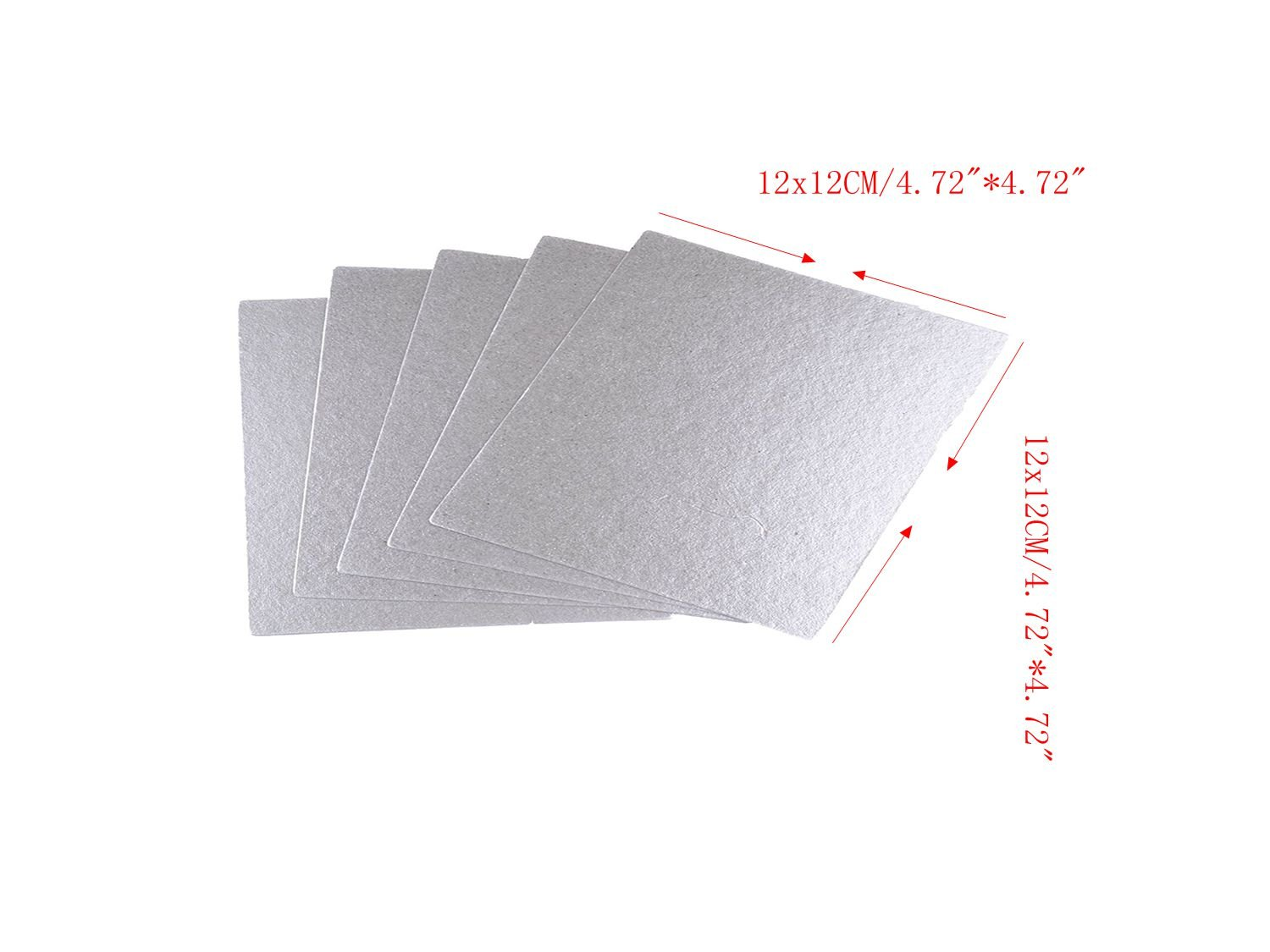 "Aquamonica Repair of mica plate high temperature insulation board by domestic microwave oven 12x12CM/4.72""4.72"" (5pcs/package)"