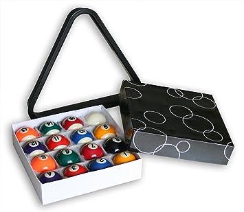 KMH, bolas de billar, incluye triángulo (38 mm/Pool) (# 800041 ...