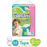 Babyjoy Compressed Diamond Pad Diaper Giant Pack Junior, Size 5, 66 Count, 14-25 Kg