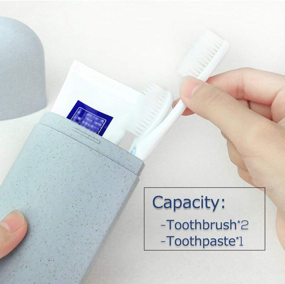 Galaxer /étui de Brosse /à Dents de Voyage /écologique Mat/ériau de Paille de Bl/é Support de Dentifrice Sans Couvercle de Brosse /à Dents en Plastique
