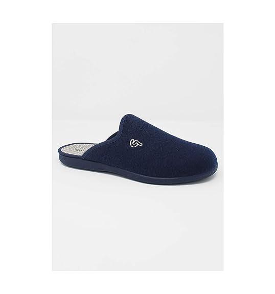 Garzón - Zapatillas de casa Chinela Hombre Marino - Marino, 40: Amazon.es: Zapatos y complementos
