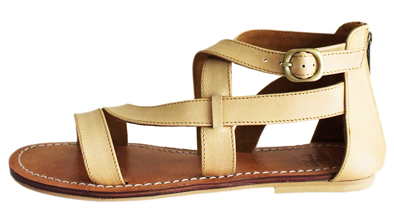 Braun HGilliane Design Leder Sandalen Anderson-Modell-Entwurf In 33-44 NUR MIT IHREN FUszlig;MAszlig;EN