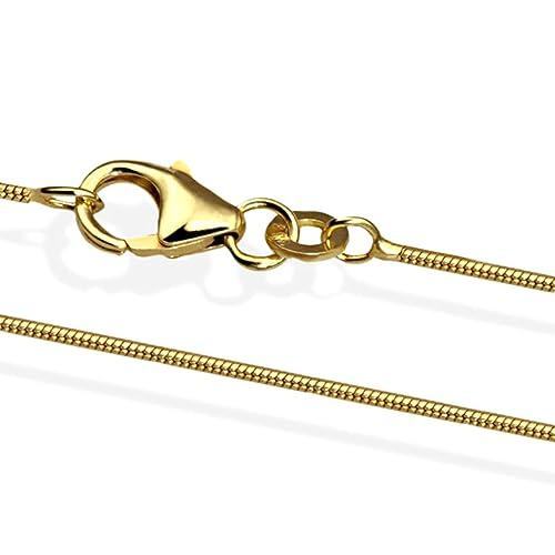 Schlangenkette 42 cm 585 Weißgold Stärke 1,4 mm