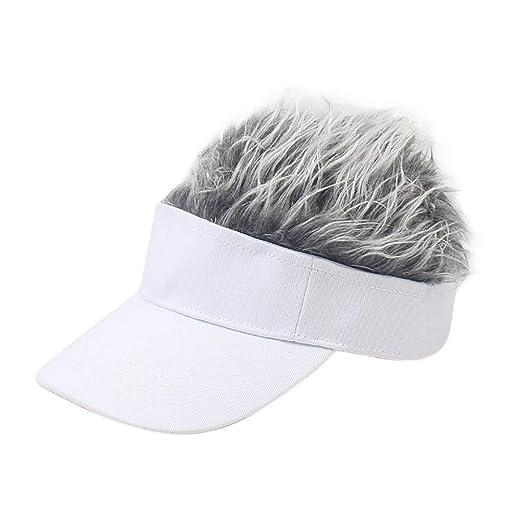 Sombrero Gorra De Beisbol Tamaño Ajustable Hombres Peluca De Pelo ...