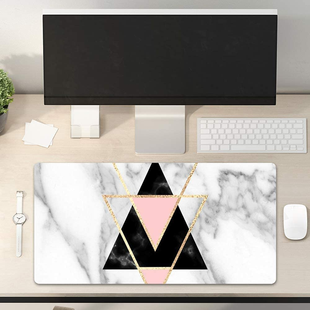 Colorful Star PU Leather Office Desk Pad for Keyboard and Mouse - 31.5