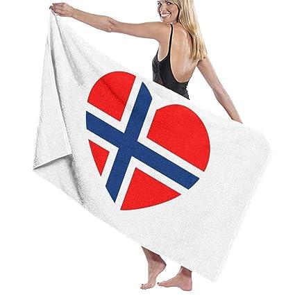Amazon.com: Noruega Bandera Corazón Moisture Absorción ...