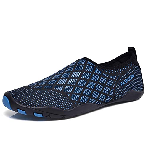 6a7cfd6f5efca HINZER Water Shoes for Men Women Quick Drying Aqua Shoes(Blue 6 Women   3.5