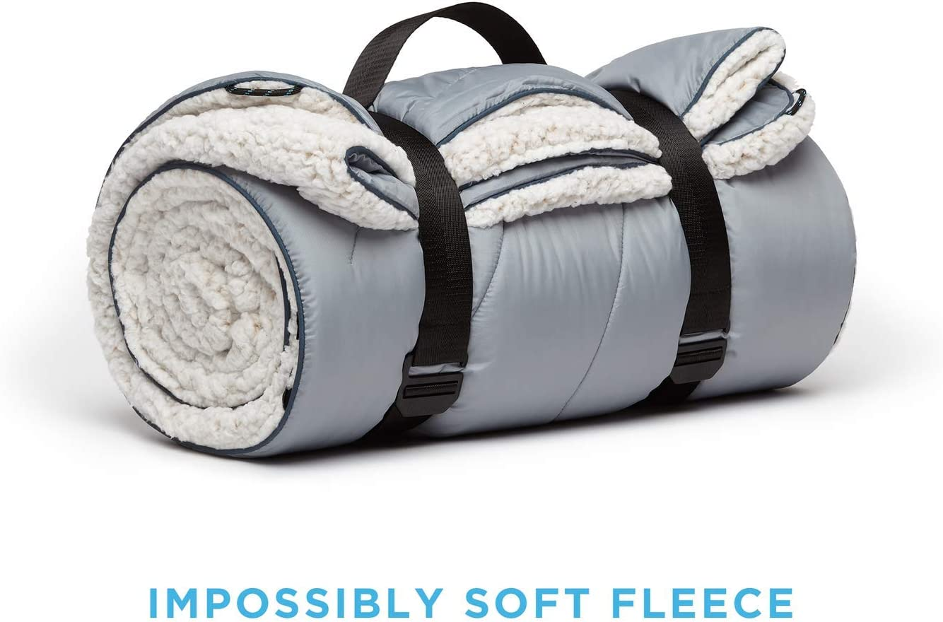 Picnics Concerts 1-Person Rumpl The Sherpa Puffy Blanket Traveling Nantucky Ultra Soft Warm Outdoor Fleece Sherpa Blanket for Camping