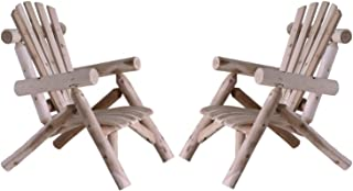 product image for Lakeland Mills Cedar Log Patio Lounge Chair Set of 2