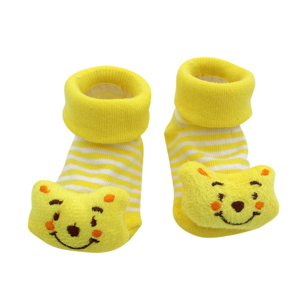 ❤️ Mealeaf ❤️ Cartoon Newborn Baby Girls Boys Anti-Slip Socks Slipper Shoes Boots(0-12months)