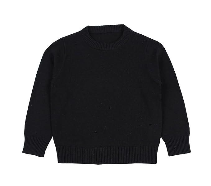 447591033 TAIYCYXGAN Baby Toddler Boys Girls Pullover Sweaters Unisex Kids Winter  Kint Sweatshirts Cotton Clothes Black 100