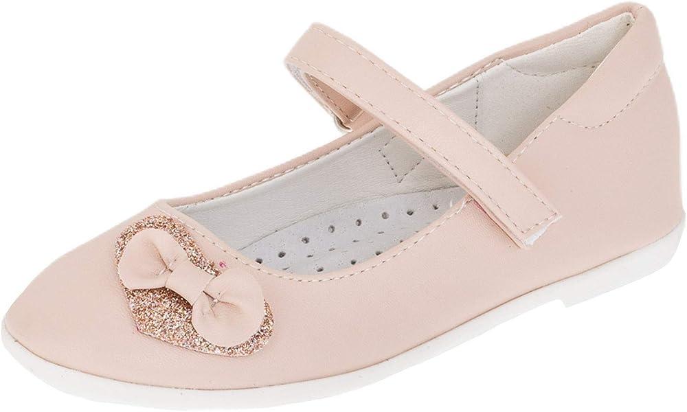 47147289b6f383 Festliche Kinder Mädchen Schuhe Ballerinas mit echtes Leder Innen Sohle in  verschiedenen Farben mit Glitzer Herz