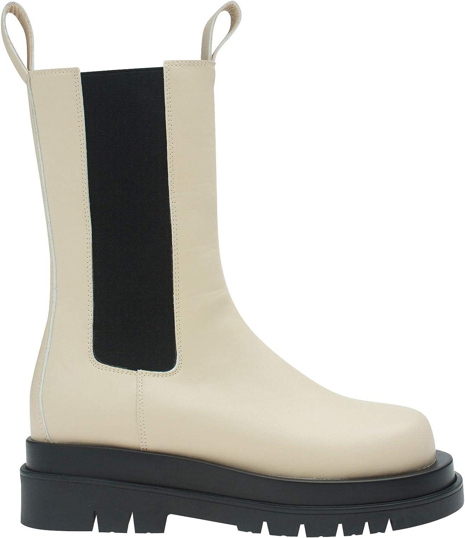 AnnaKastle Womens Mid-Calf Chelsea Boot