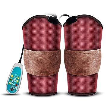 Calentamiento eléctrico rodillera terapia caliente infrarrojo lejano fisioterapia rodilla masajeador fotón/magnético/vibración masajeadores de rodilla: ...