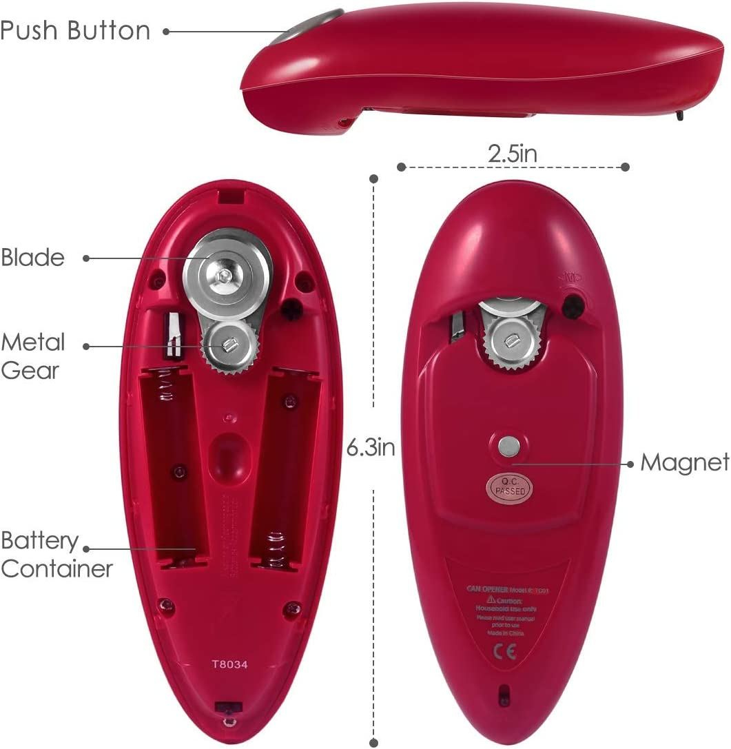 Upgraded-electric Electric Can Opener Restaurant can Opener Smooth Edge Automatic Electric Can Opener Chefs Choice