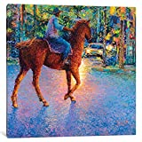 iCanvasART IRS161-1PC3-37x37 iCanvas My Thai Cowboy Gallery Wrapped Canvas Art Print by Iris Scott, 37'' X 0.75'' X 37''
