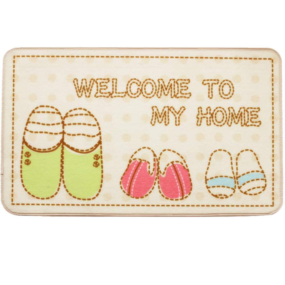 White 60x90cm(24x35inch) Door mat,Entrance Rug Front Door Rug Bathroom Welcome mats for Indoor Outdoor Floor mat-Brown 80x120cm(31x47inch)